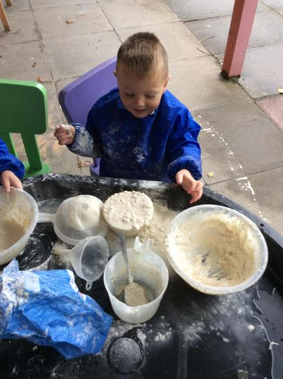 Exploring what happens when we mix water and flour