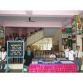Pupils, teachers, parents- admire messages display