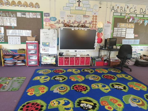 Our carpet learning space