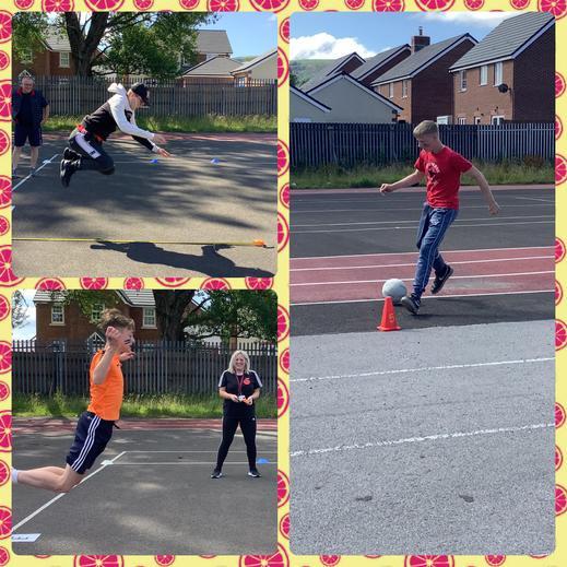 Long jump and dribbling ⚽️
