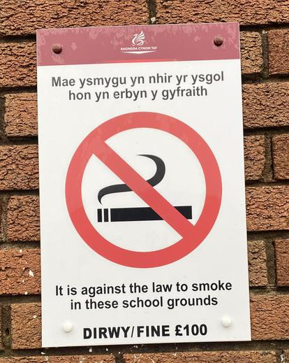 New signage throughout school.