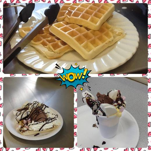The waffles and sundaes were awesome 😊