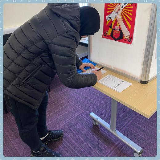 K casting his vote!
