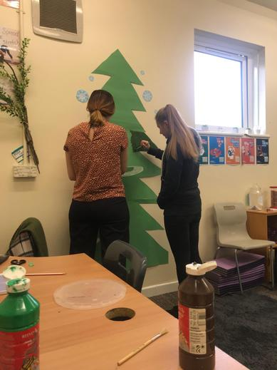 Wellbeing Art, we may have to touch up the wall T!