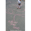 Follow the chalk line