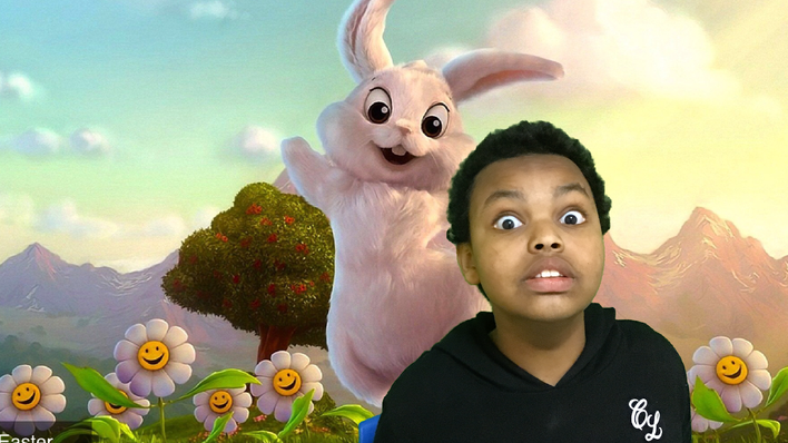 AO with the Easter Bunny