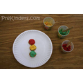 Make coloured icing and put on biscuits