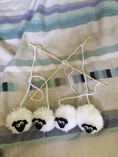 This pompom sheep mobile may send you to sleep1