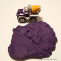 Use vehicles to mark make in playdough