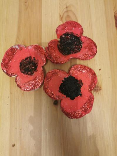 Poppies made over half term