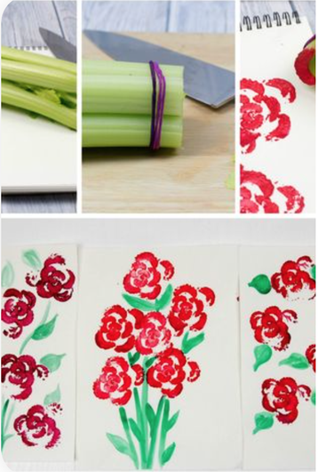 Red rose craft - Italy's national flower