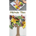 Make a tree picture out of leaves and petals you find outside