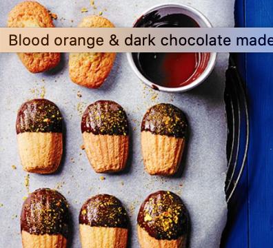 Blood orange and dark chocolate madelines