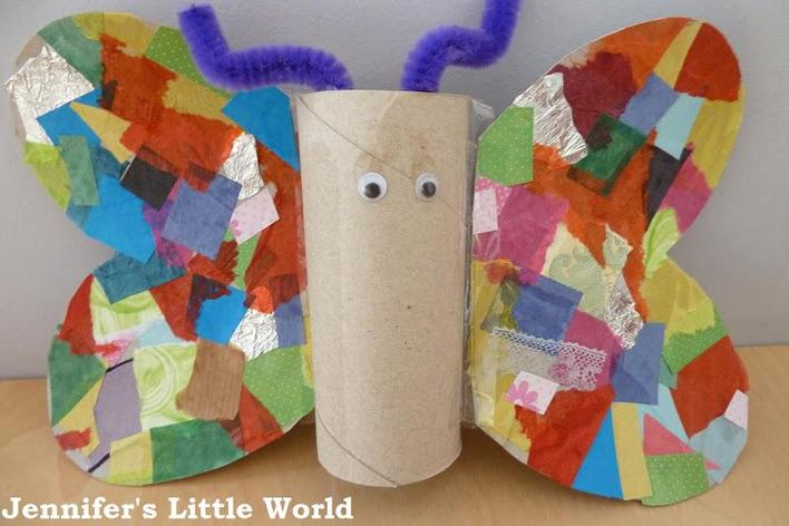 Toilet roll collaged Butterfly