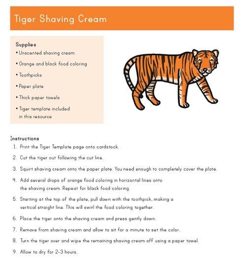Tiger shaving foam