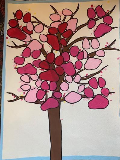 Nala Fletcher's mum's  paw print tree