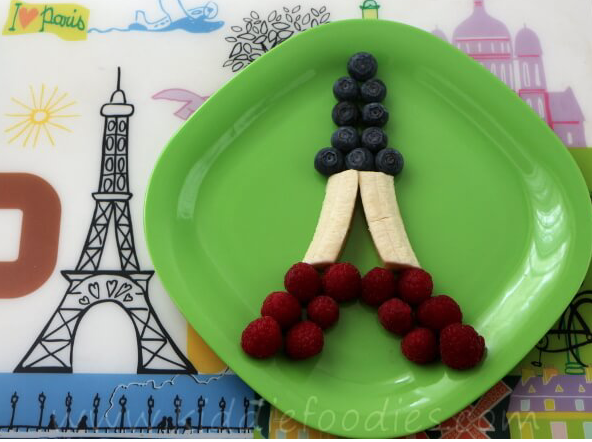 Try making your own edible Eiffel Tower with fruit