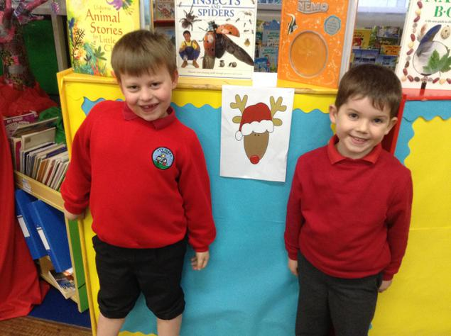 Ioan and William have chose the reindeer corner!