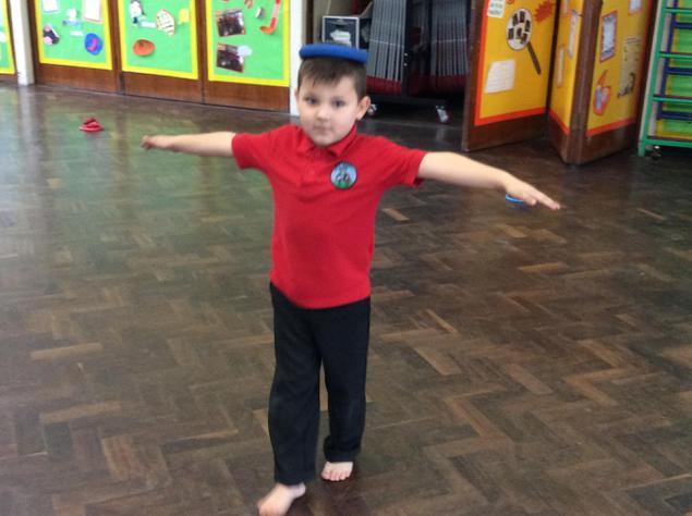 Good balancing Mason!