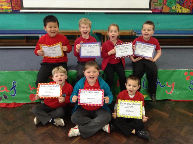 Year 1 with their games club certificates!