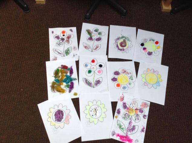 Wow! You have made some amazing, colourful flowers