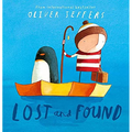 """""""A little boy went to his door and found a penguin"""" Oliver  """"It's my favourite book"""" Jude"""
