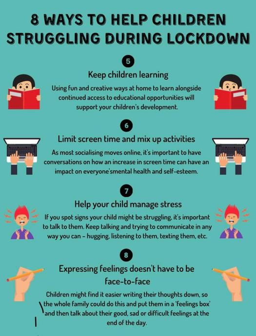 Ways to support your child through Lockdown
