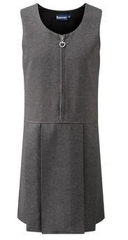 Grey school pinafore dress