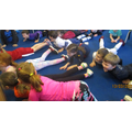 Yoga session in Chestnut class