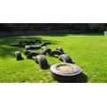 Tyres to climb on the school field