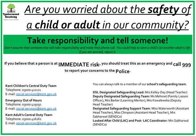 Worried about a child or adult in our community?