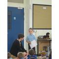 sharing schievements outside of school.