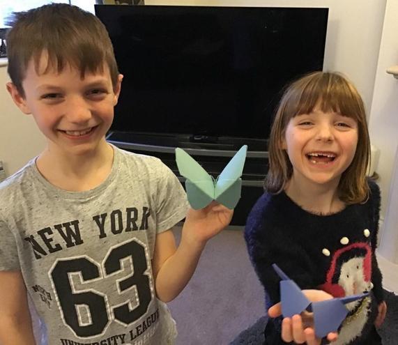 Butterflies made at home!