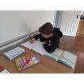 Lewis focused on his maths.