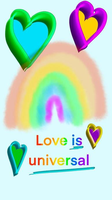 Olivia's digital rainbow!