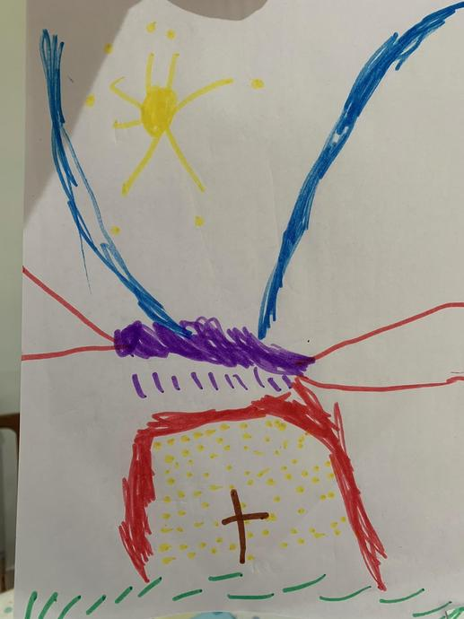 Sun shining over the empty tomb - well done Mimi!