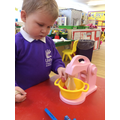 Role play and imaginative play is encouraged