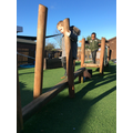 Have a go on the gym trail in our outdoor area