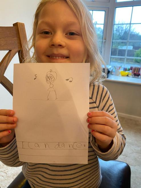 Super writing and drawing for the 'I Can' book.