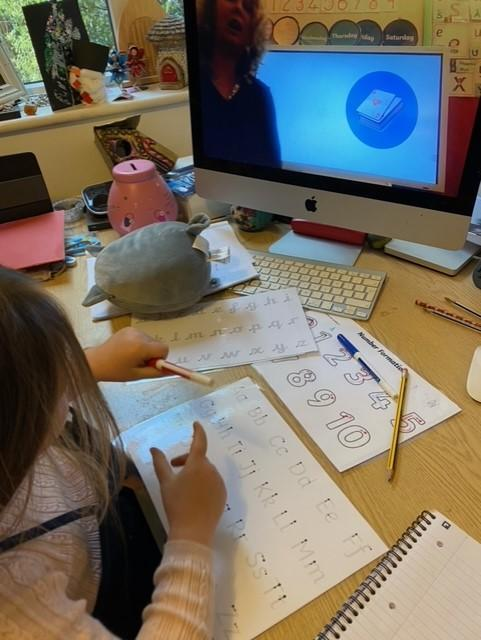 Lots of hard work on writing and maths