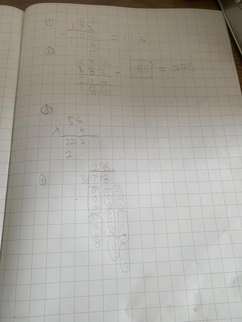 Freddie's maths