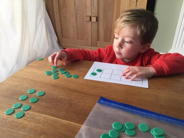 counting with a tens frame
