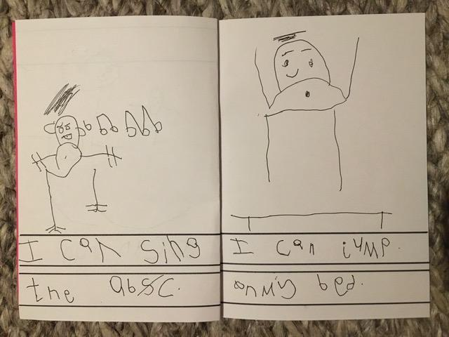Super work on the 'I Can' book Theo!