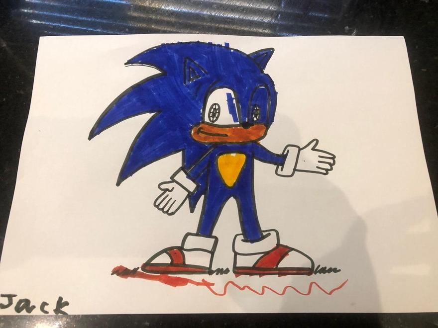 Jack's Sonic drawing
