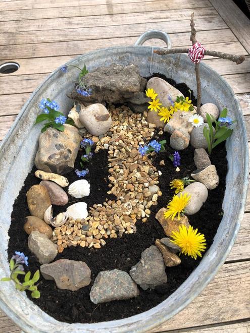 Jack's fantastic Easter garden