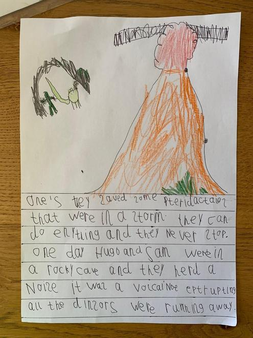 Hugo's caveman story p2