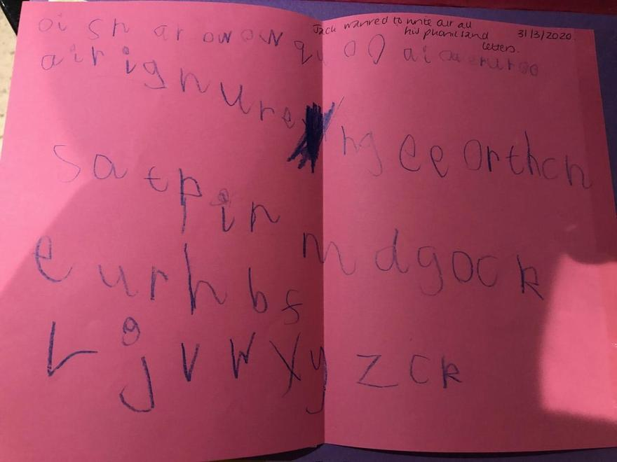 Jack - writing out sounds