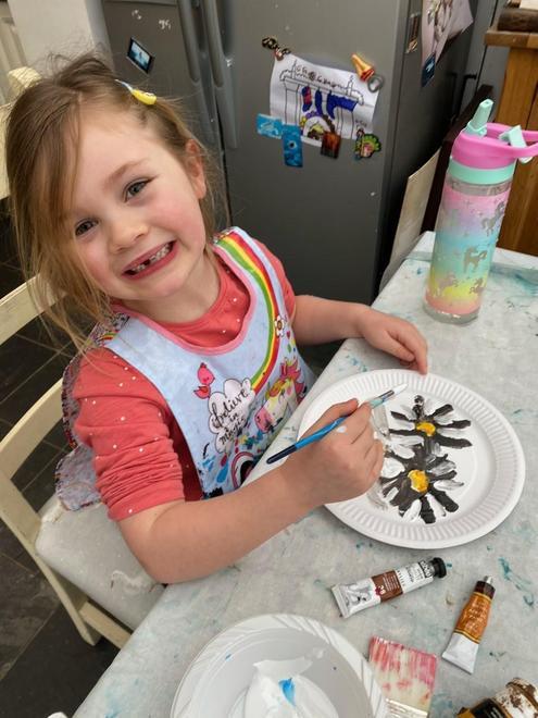 A happy artist.