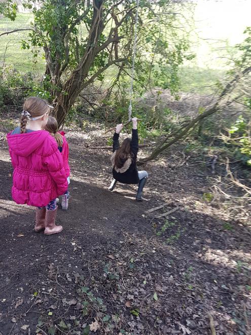 We found a swing.