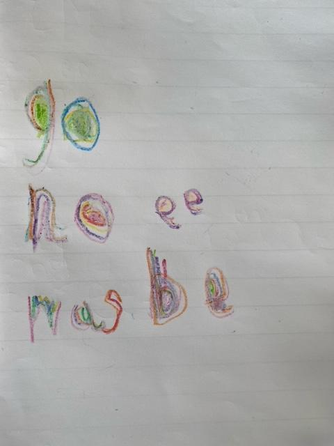 Lily's colourful writing